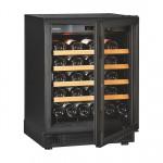 EuroCave V/S059 lavt vinskab med sort glasdør