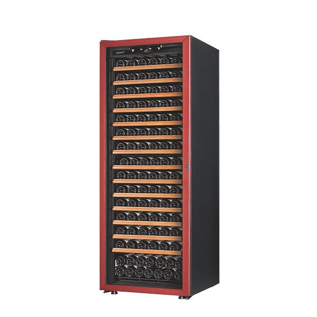 EuroCave Premiere Range glasdør med rød ramme