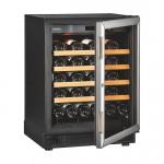 EuroCave V/S059 lavt vinskab med silver glasdør