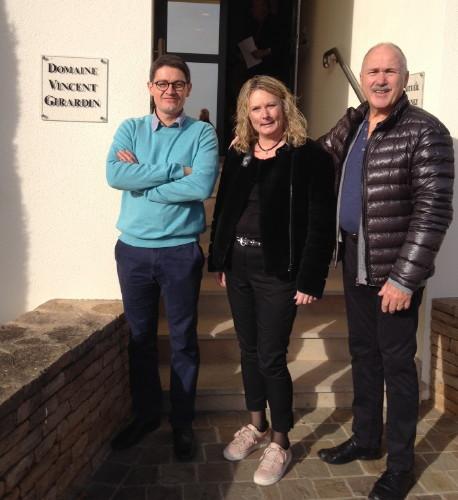 Vinmager Eric Germain og Lars og Lone Fra Zaizon vinhandel og vinskabe